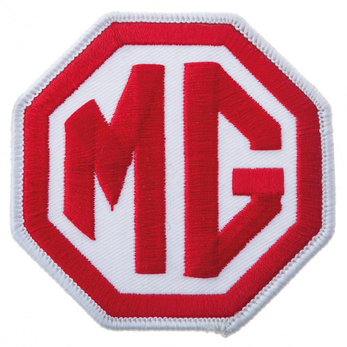 Patch, MG, sew-on, red/white