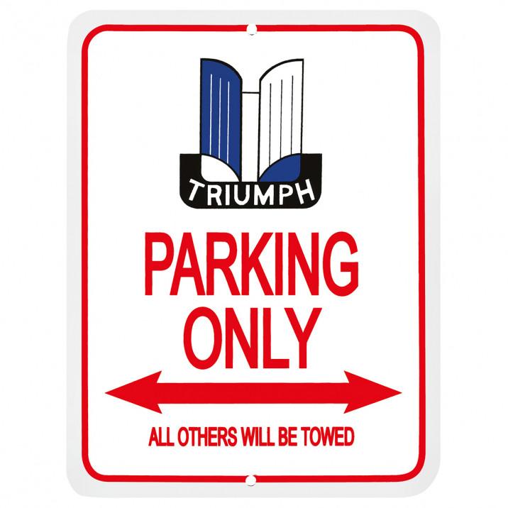 Parking Sign, Triumph Shield