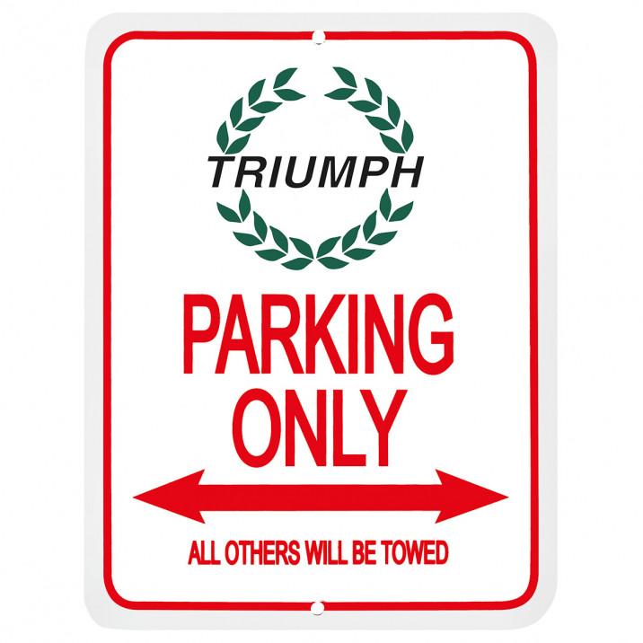 Parking Sign, Triumph wreath