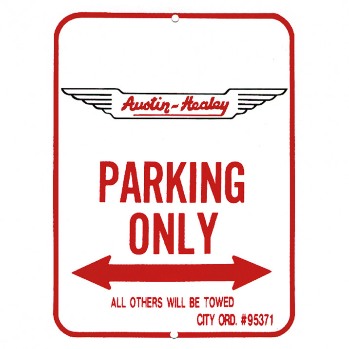 Parking Sign, Austin-Healey