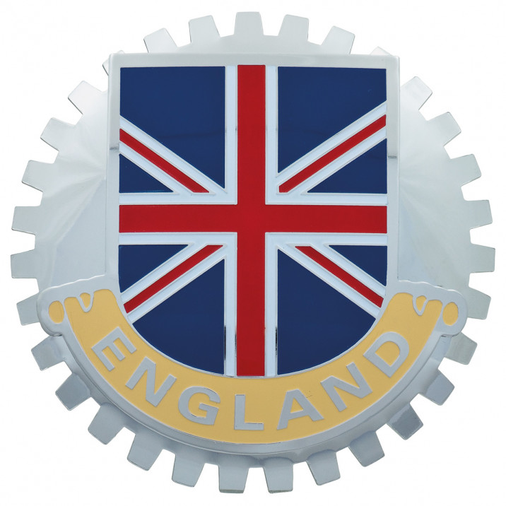 Badge, England/Union Flag, toothed, enamel