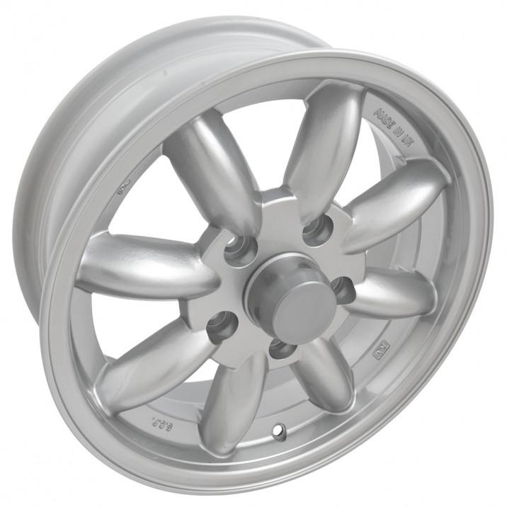 "Wheel, Minator, 8 spoke, aluminium, silver, bolt-on, 15"" x 5.5"""