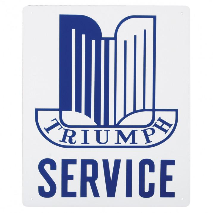 Service Sign, Triumph Shield, 12 x 16