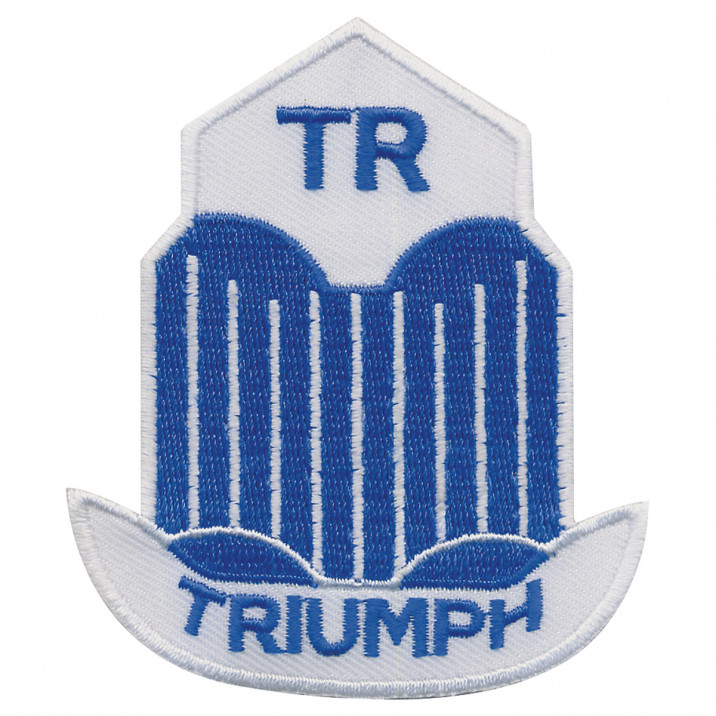 Patch, Triumph TR, rectangular, embroidered