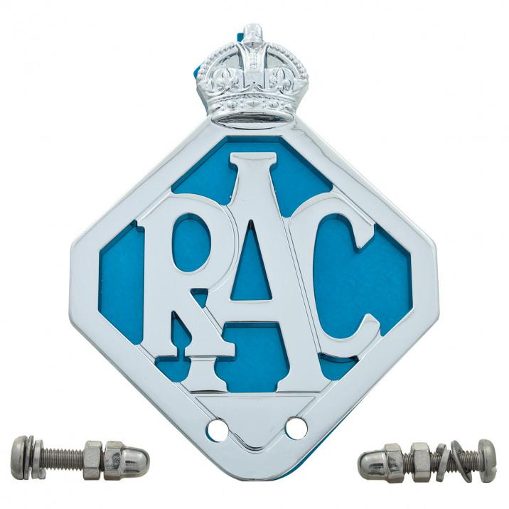 Badge, RAC, Original Blue Background