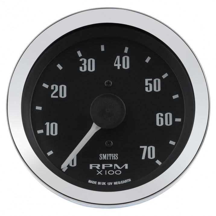 Gauge, tacho, electronic, 0-7krpm, 80mm