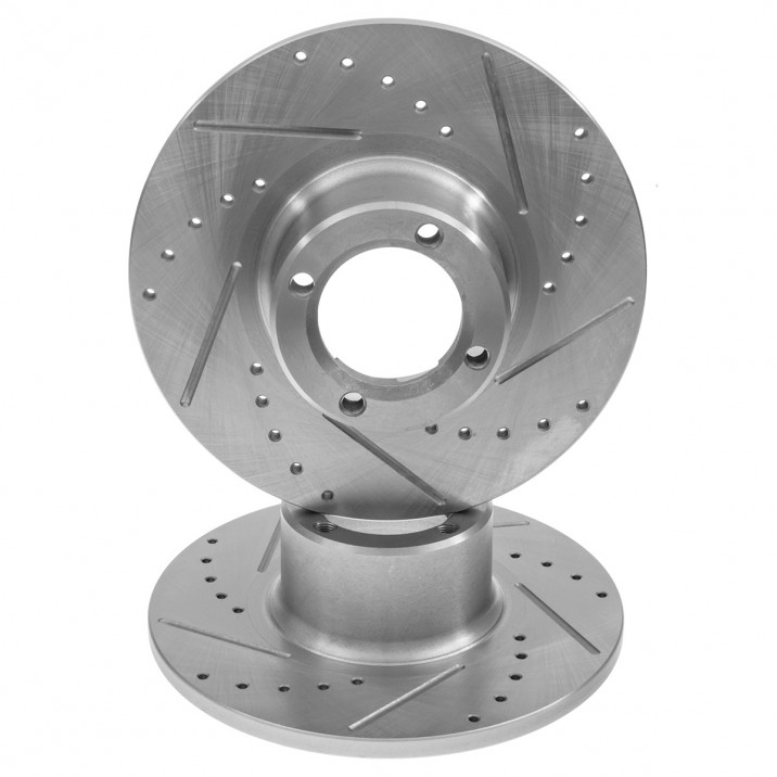"""Brake Disc, 8.4"""" drilled & grooved, pair"""