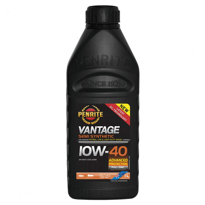 Penrite Vantage Semi-Synthetic  Oil, 10W/40, 1l