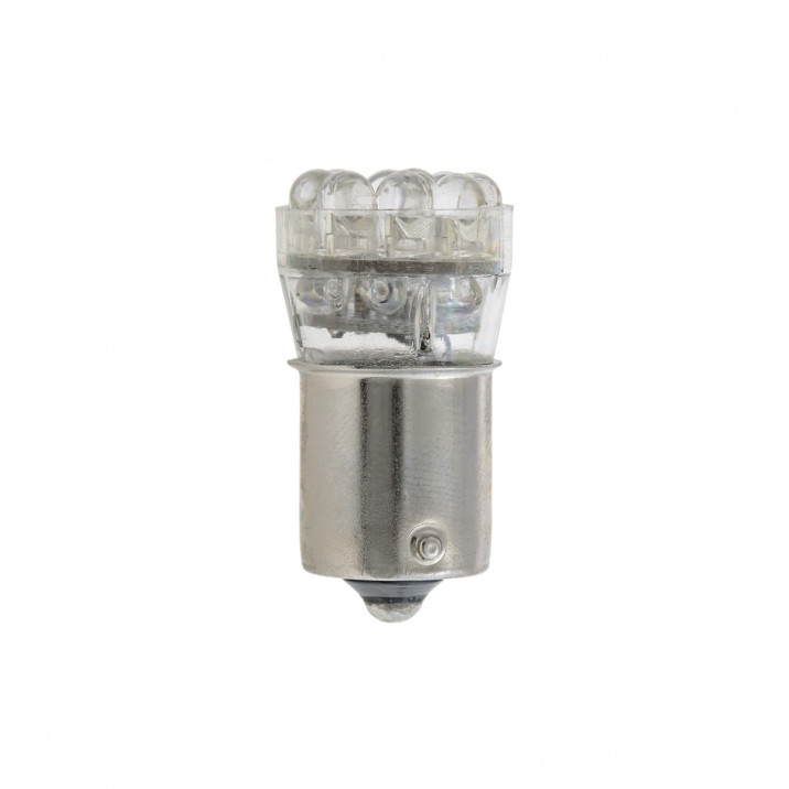 LED Bulb, bayonet BA15s, 12V, 5W, red