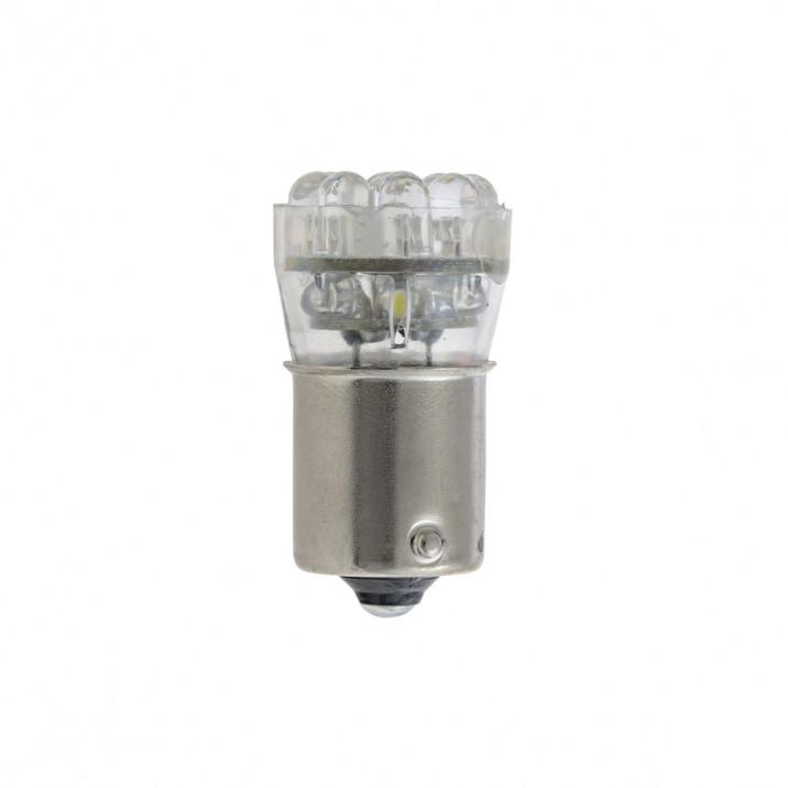 LED Bulb, bayonet BA15s, 12V, 5W, white