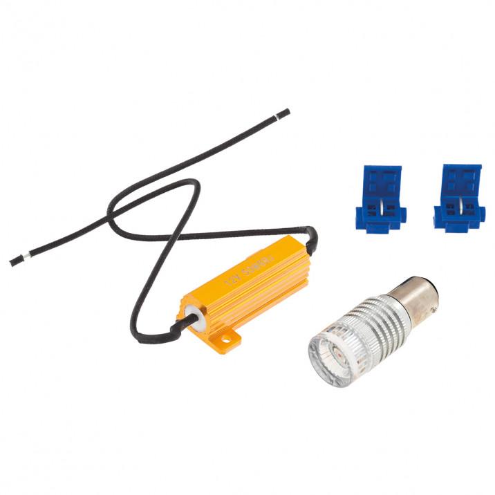 LED Bulb Kit, bayonet BAY15D, 12V, 21/5W, red