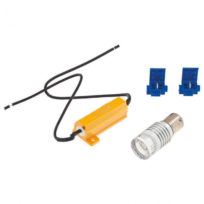 LED Bulb Kit, bayonet BA15s, 12V, 21W, red