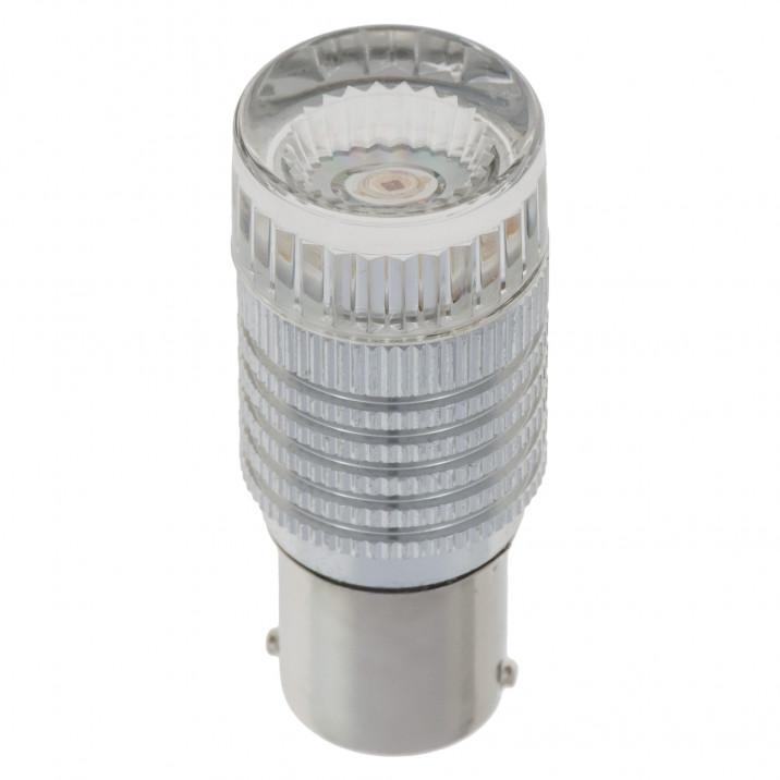 LED Bulb, bayonet BA15s, 12V, 21W, red