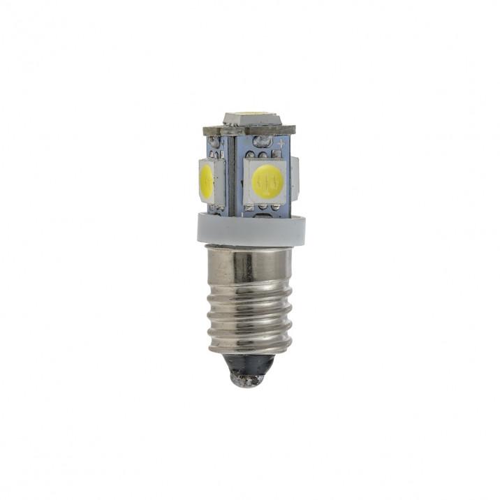 LED Bulb, screw MES E10, 12V, 2.2W, white, negative