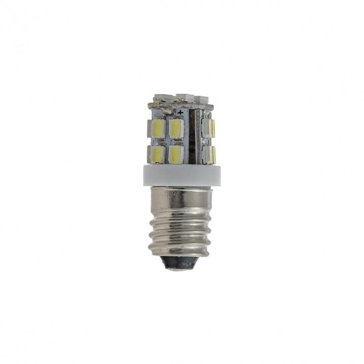 LED Bulb, screw MES E10, 12V, 2.2W, white, positive