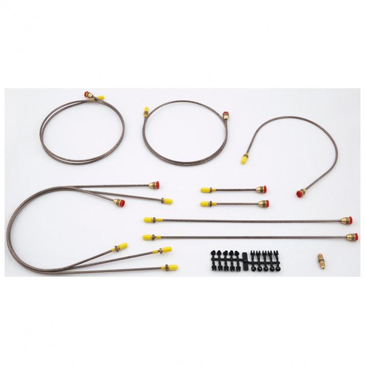 Brake Pipe Set, copper/nickel, LHD