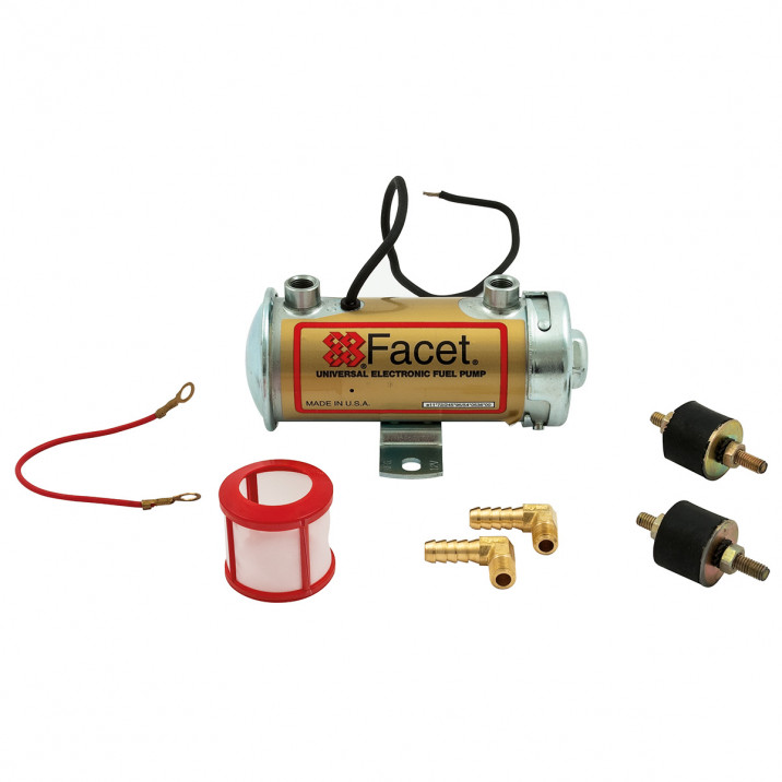 Facet Fuel Pump Kit, cylindrical, fast road, Silver Top up to 200 bhp