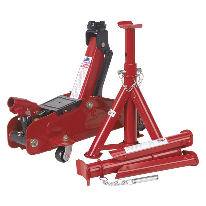 Trolley Jack & Axle Stand Set, 2 tonne