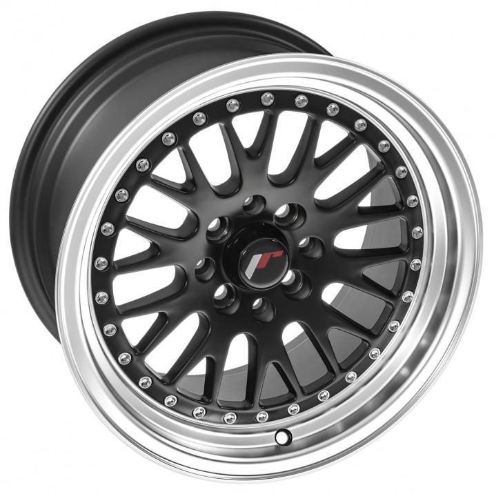 """Wheel, JR10, 15"""" x 8"""", ET20, matt black/polished lip"""
