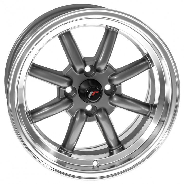 "Wheel, JR19, 15"" x 8"", ET0, charcoal grey/polished lip"