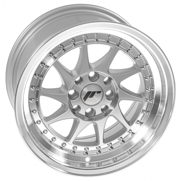 "Wheel, JR26, 15"" x 8"", ET25, silver/polished lip"