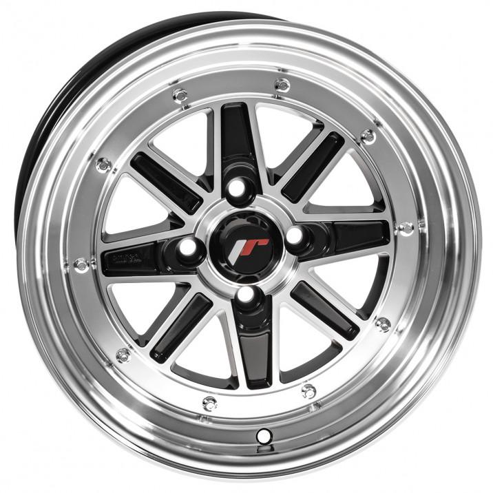 "Wheel, JR31, 15"" x 7.5"", ET20, gloss black/polished lip"