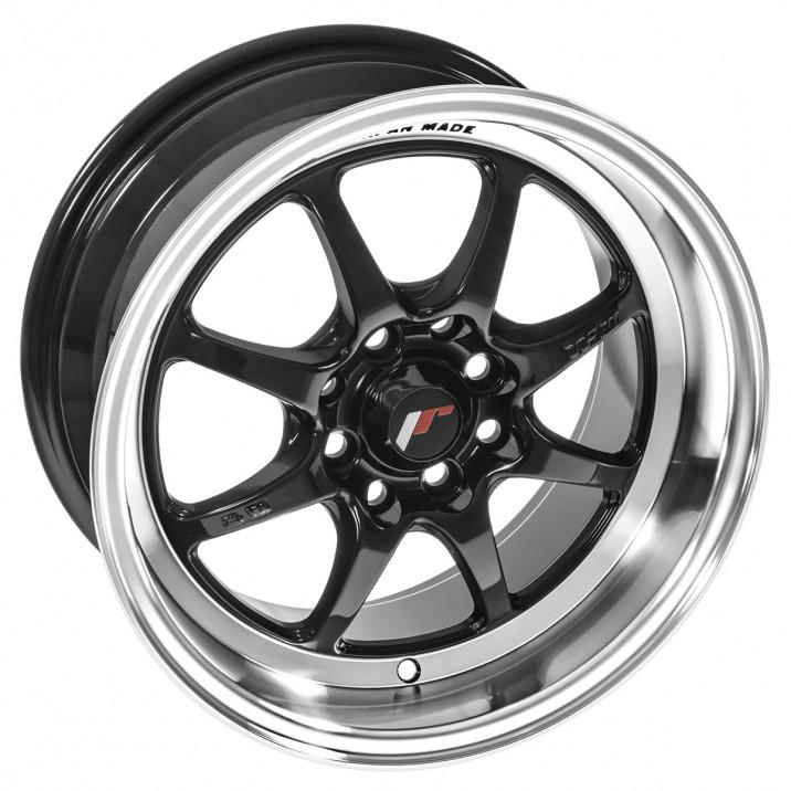 "Wheel, TF2, 15"" x 7.5"", ET30, gloss black/polished lip"