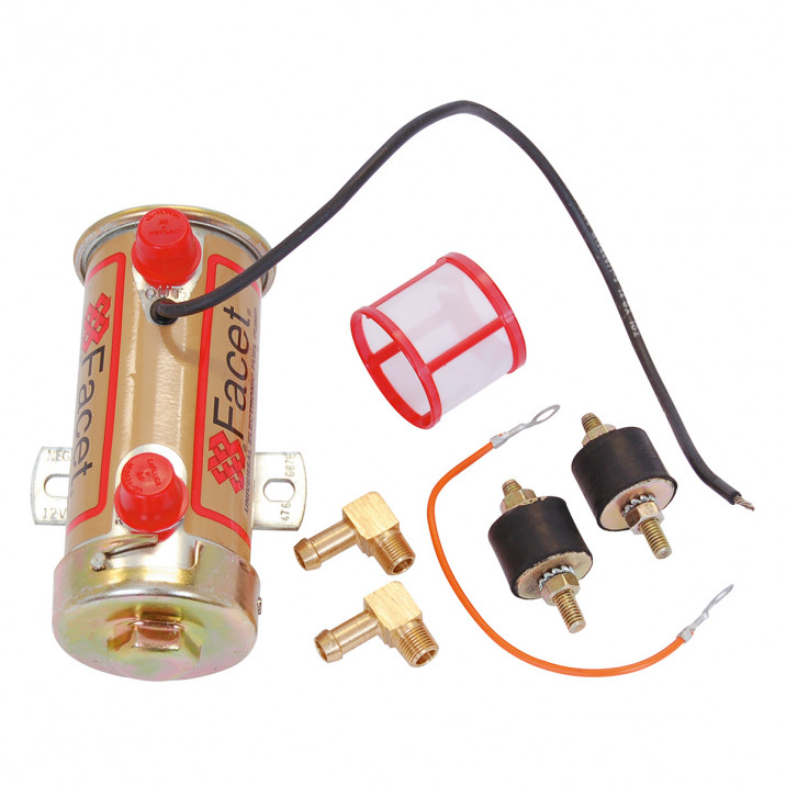Facet Fuel Pump Kit, cylindrical, road, Silver Top up to 150 bhp