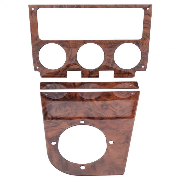 Radio & Centre Console, burr walnut veneer, rubber bumper
