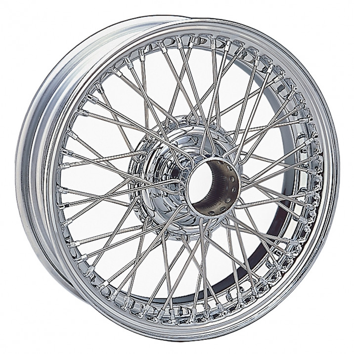 """Wire Wheel, chrome, 15"""" x 4"""", 48 spoke"""