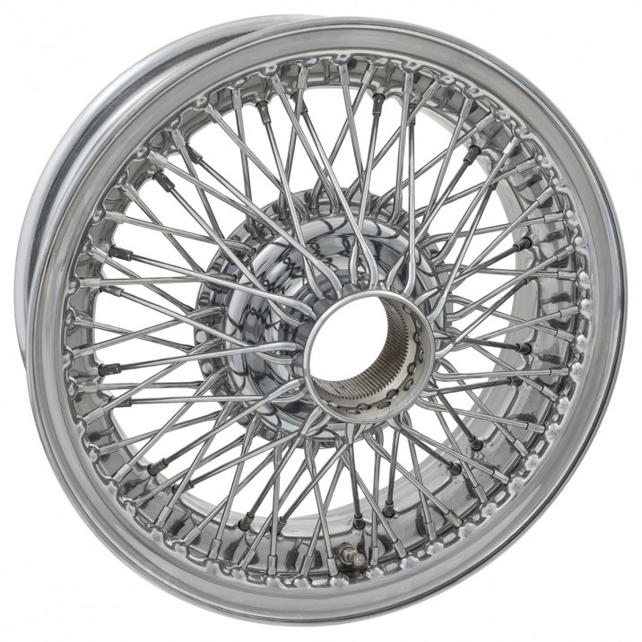 "Wire Wheel, chrome, 15"" x 5"", 72 spoke"