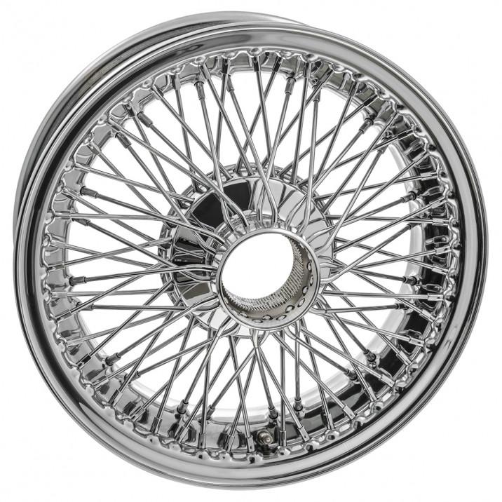 """Wire Wheel, chrome, 15"""" x 5"""", 72 spoke"""