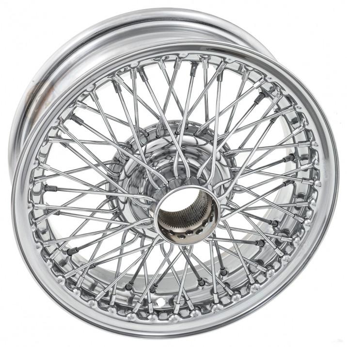 """Wire Wheel, chrome, 14"""" x 4.5"""", 60 spoke"""