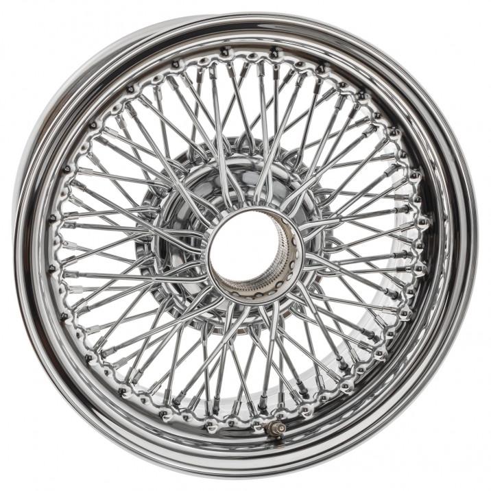 """Wire Wheel, chrome, 15"""" x 6.5"""", 72 spoke"""