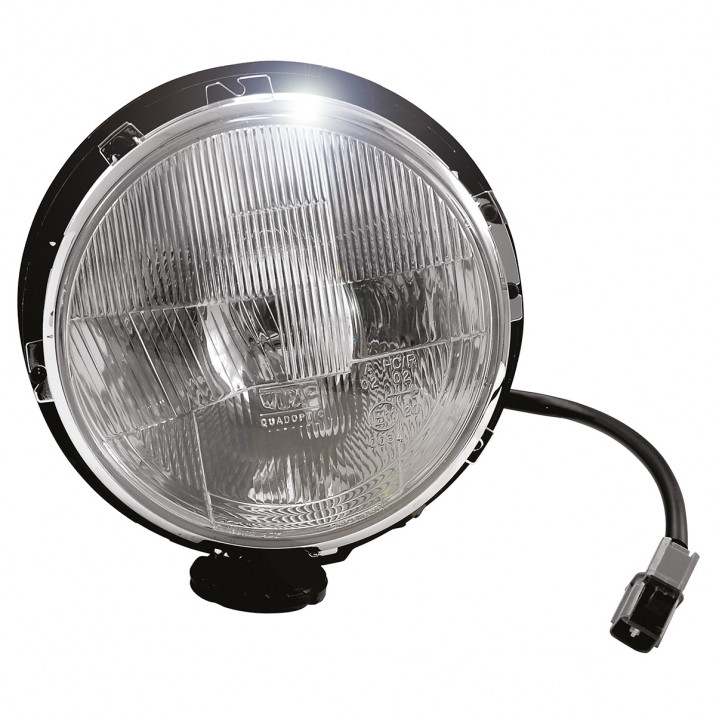 Headlamp Assembly, levelling type, no rim, RHD