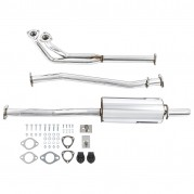 Exhaust System, Tourist Trophy, with downpipe, stainless steel