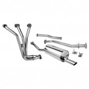 Exhaust System, Tourist Trophy, with manifold, stainless steel