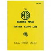 Original Parts Catalogue, MGA 1500