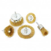 Wire Brush Set, 5 piece 6mm spindle