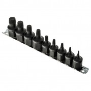 "Screw Extractor Set, 3/8"" - 1/2"" drive, 9 piece"