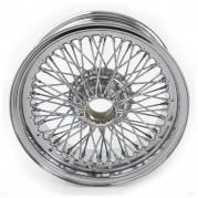 """Wire Wheel, chrome, 15"""" x 5.5"""", 70 spoke"""