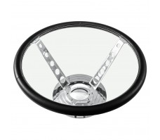 Steering Wheel Glass Top Table