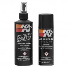 K&N Cleaner & Oil Kit, 355ml cleaner & 204ml oil