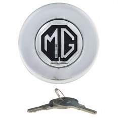 Fuel Cap, locking, Tourist Trophy, with MG logo, chrome