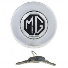 Fuel Cap, locking, Tourist Trophy, with MG logo, chrome