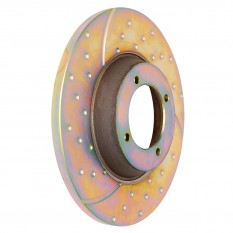 Brake Disc Set, grooved & dotted, EBC, pair
