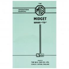 Owners Handbook, MG TD