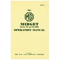 Owners Handbook, MG TF
