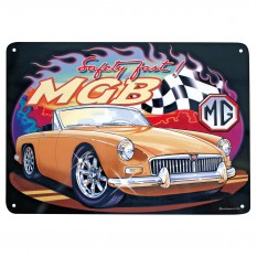 Plaque, metal, MGB