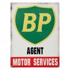 Sign, BP British Petroleum Vintage Metal Garage Sign